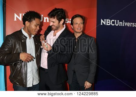 LOS ANGELES - APR 1:  Robert Bailey Jr, Scott Wolf, Eoin Macken at the NBC Universal Summer Press Day 2016 at the Four Seasons Hotel on April 1, 2016 in Westlake Village, CA