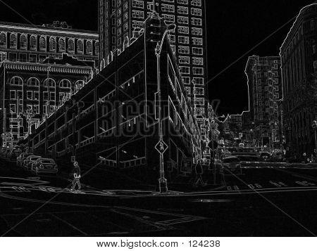 Corner City Block In Art