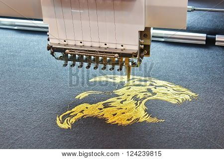 Embroidering process is working in the Factory