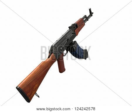 AKM assault rifle 3d illustration icon weapon