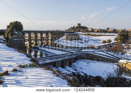 Nepi medieval town in the province of Viterbo in Italy