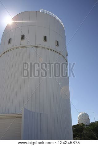 TUCSON, ARIZONA, FEBRUARY 28. Kitt Peak National Observatory on February 28, 2016, near Tucson, Arizona. The Steward Observatory at Kitt Peak National Observatory near Tucson Arizona.