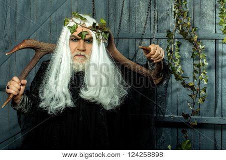 Zeus Man With Horns