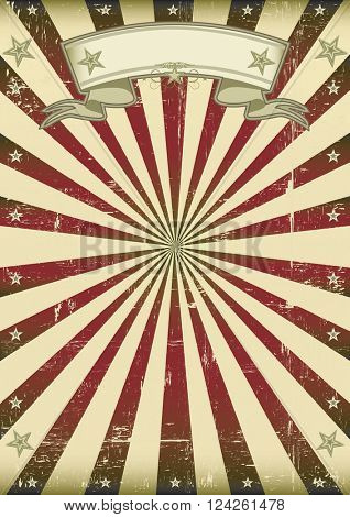 vintage sunbeams background. A vintage background with red sunbeams for a poster