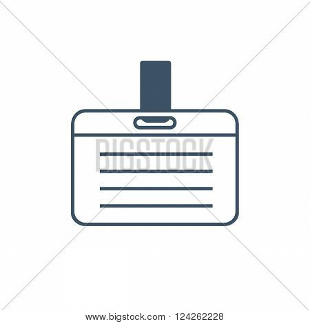 Vector Card Name or Id Holder isolated on white