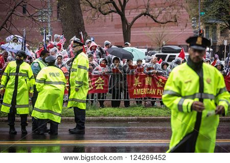 A Peaceful Demonstration Of Chinese Activists In Washington