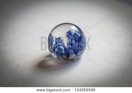 Crystal Made Of Epoxy Resin With Harebell