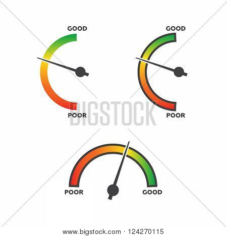 Vertical meters vector template. 10 eps vector illustration