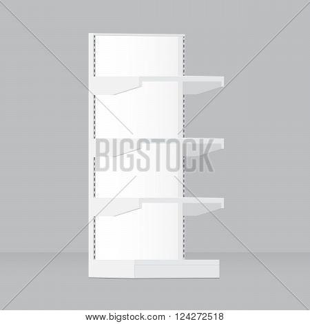 Supermarket shop shelves. . 10 eps vector illustration