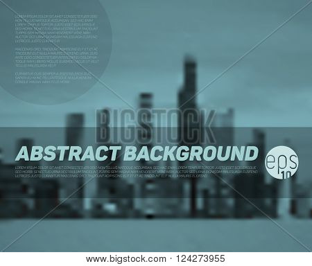 Vector abstract blurred city background with place for your text
