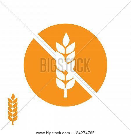Wheat yellow gluten free grain icon. eps 10 vector illustration