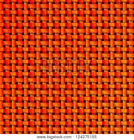 Seamless texture of red rectangles of yellow color with an element forming a title