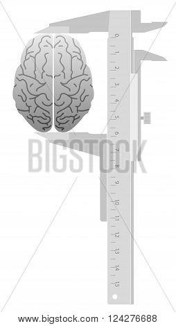 Abstract IQ Test. Caliper measures the Brain.