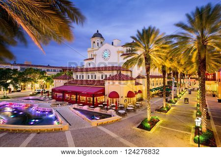 WEST PALM BEACH, FLORIDA - APRIL 3, 2016: The mixed-use development is an upscale downtown lifestyle center opened in 2000.