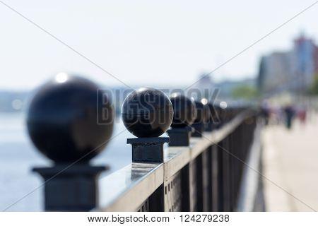 railing of the bridge saratov engels russia