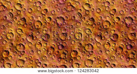 Seamless Texture surface Mars high-resolution 3D illustration poster