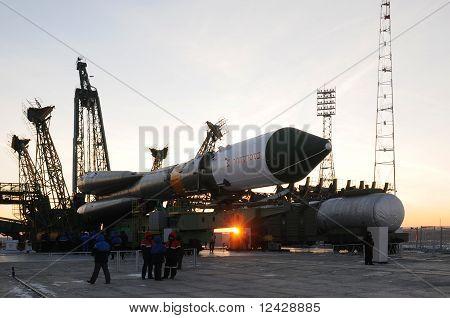 Progress Cargo Spacecraft Elevation