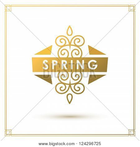 Spring Typographic Design.