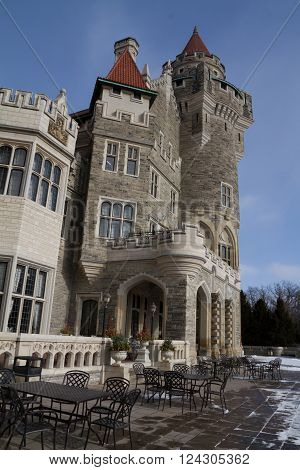 Casa Loma, Castle In Toronto, Canada.
