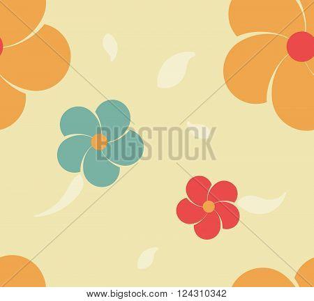 flower seamless pattern. seamless flower background. flower repeatable background. flower textile. vector stock.