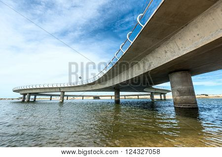 Jose Ignacio Uruguay March 08 2016 - A new bridge on a Uruguayan lagoon Garzon affording 360-degree views replaces a system of slow rafts which allowed only two cars to pass at time