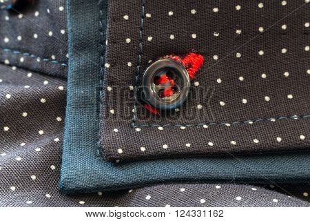 Stylish Dark Blue Men's Shirt With White Spots
