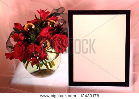 Picture Frame With Roses