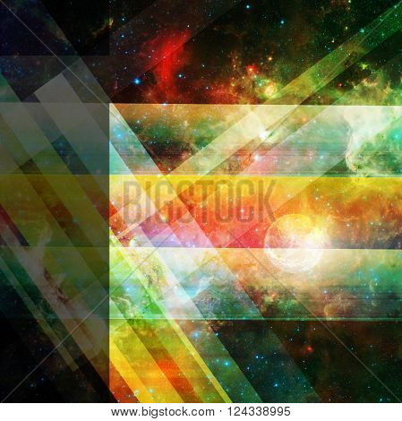abstract space background with lines and stars- elements of this image are furnished by NASA