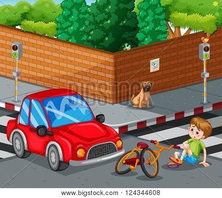 Injured Bike Accident Vector Photo Free Trial Bigstock