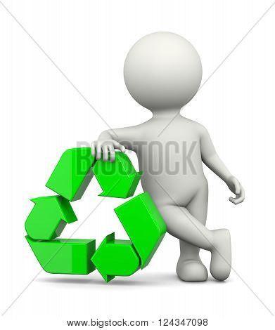 Recycle Sign With 3D Character