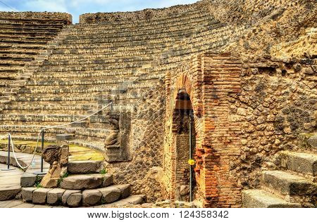 Odeion- the small theatre in ancient Pompeii, Italy
