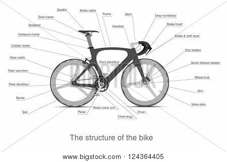 Infographic of the structure of a multi-speed bike