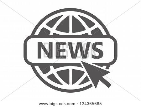 News icon. Website Icon - vector illustration isolated