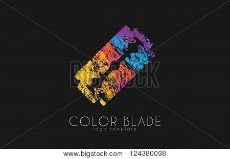 Blade razor logo. Blade logo. Color blade