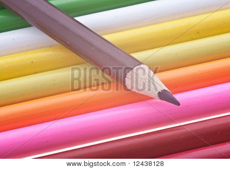 coloured pencils isolated