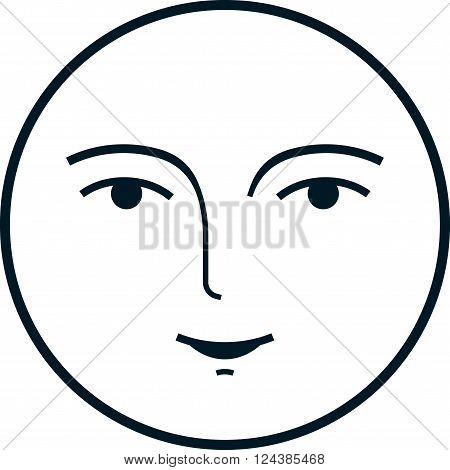 Full Moon Face Vector \u0026 Photo (Free Trial)