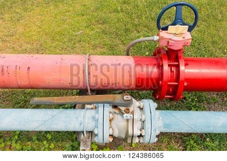 Supervisory main valve for water fire protection system.