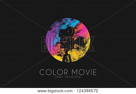 film camera logo. Movie camera. Creative logo. Movie logo