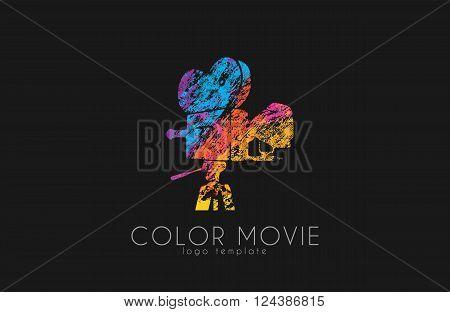 film camera logo. Movie camera. Creative logo. Movie logo