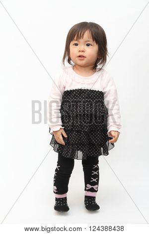 Smiling Japanese baby girl (1 year old)