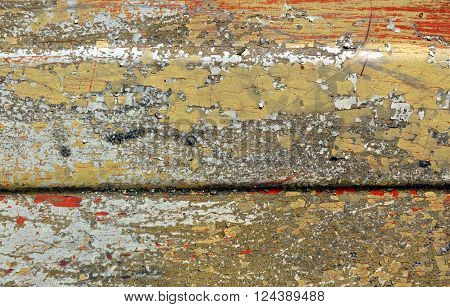 Weathered Painted Metal Surface.