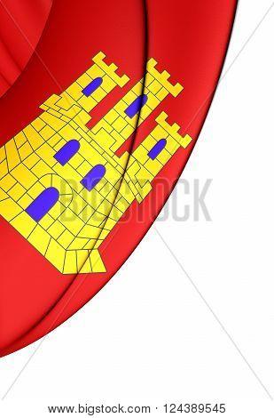 Flag Of Castile-la Mancha, Spain.