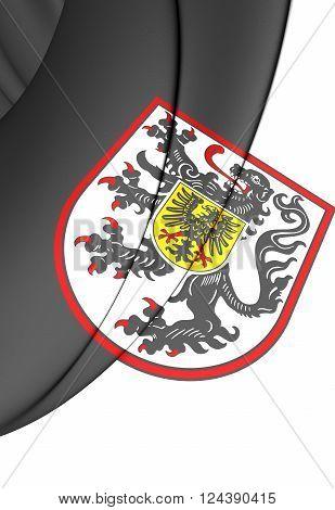Flag Of Landau In Der Pfalz (rhineland-palatinate), Germany.
