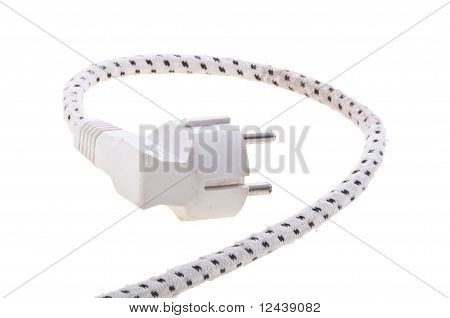 Black electric plug isolated