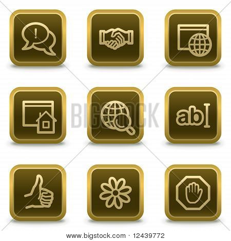 Internet Web Icons  Brown Buttons