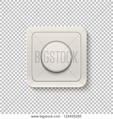 Realistic switch isolated on a transparent background. Vector EPS10 illustration.