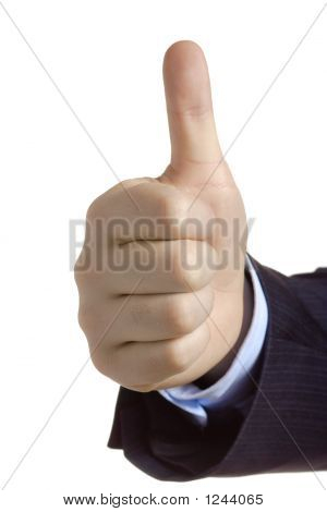 Thumbs Down Against White Background