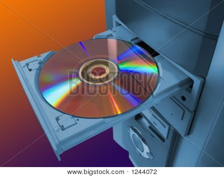 spectrum (rainbow) on compact disk in tray poster