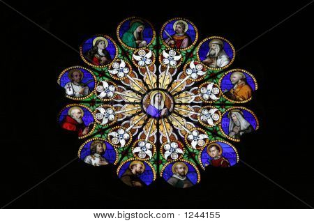 Stained Glass Rosette