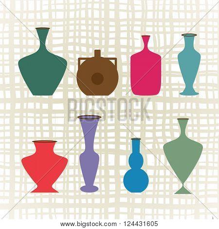Variety of vases jugs